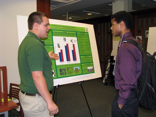 Presenting research as a TERFer at the WashU Undergraduate Research Symposium in October 2013
