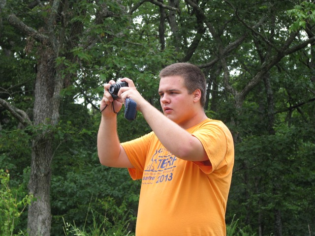 Capturing the view from the bluff over the Meramec River during July 2013