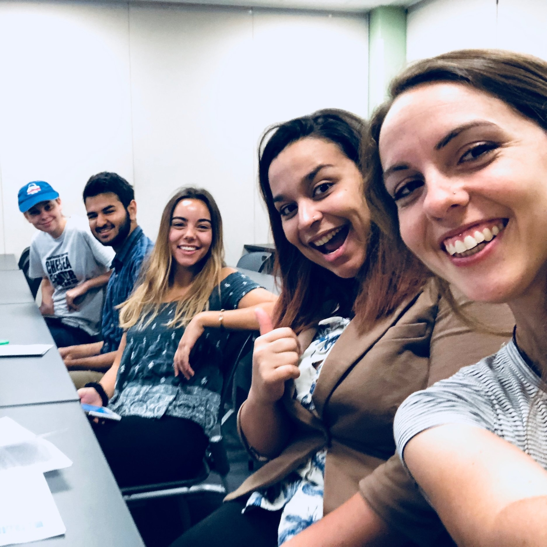 Way to go, Derek!! Derek's research teammates, mentors, and Tyson staff were there to support him. (Left to right: Julia Berndt, Anirudh Gandhi, Olivia Arias, Letícia De Souza Soares, and Solny Adalsteinsson. Not pictured: Kayla Wallace and Beth Biro.)