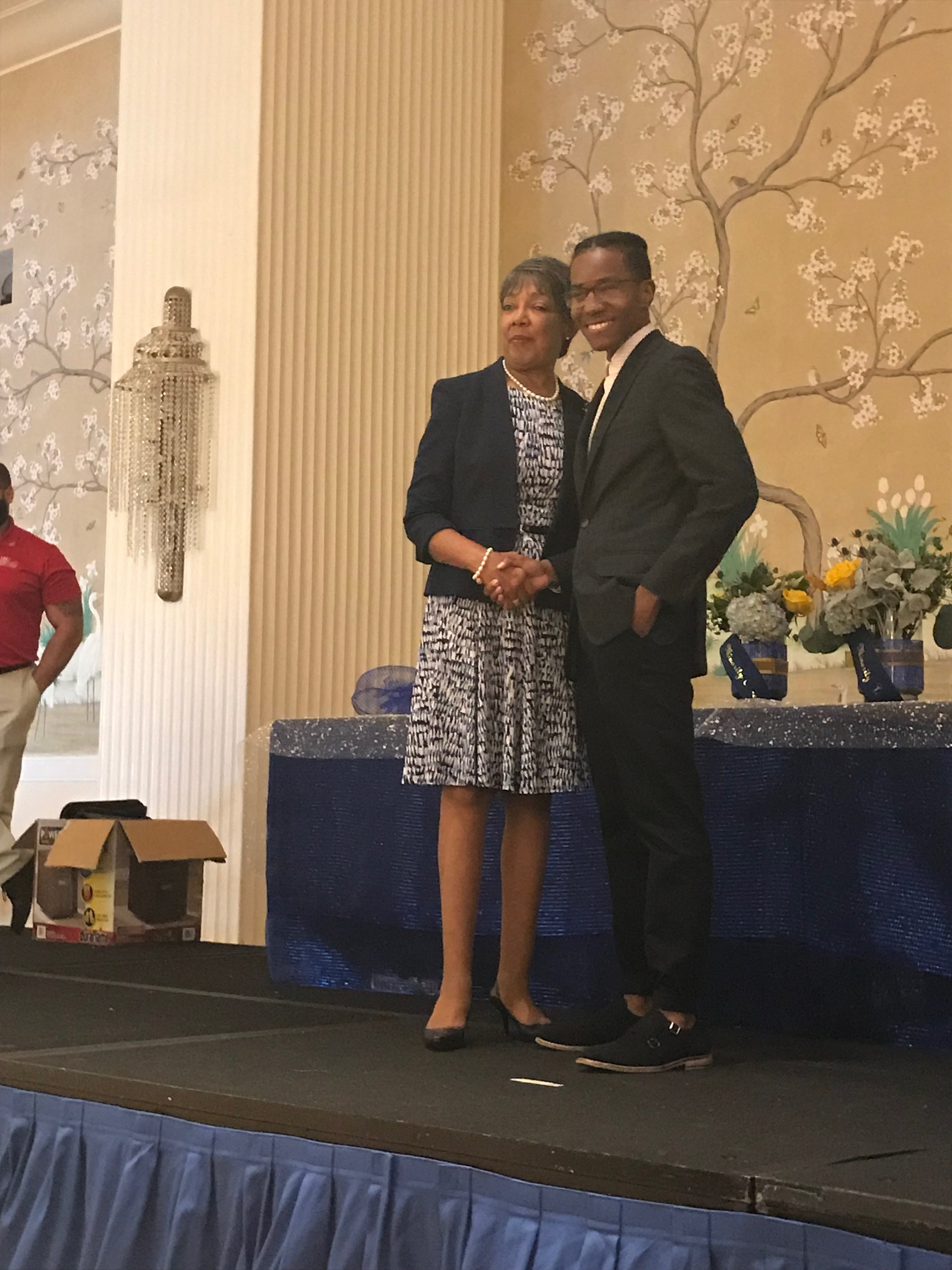 Derek receiving his first place award at the National Role Models Conference in Washington, D.C.
