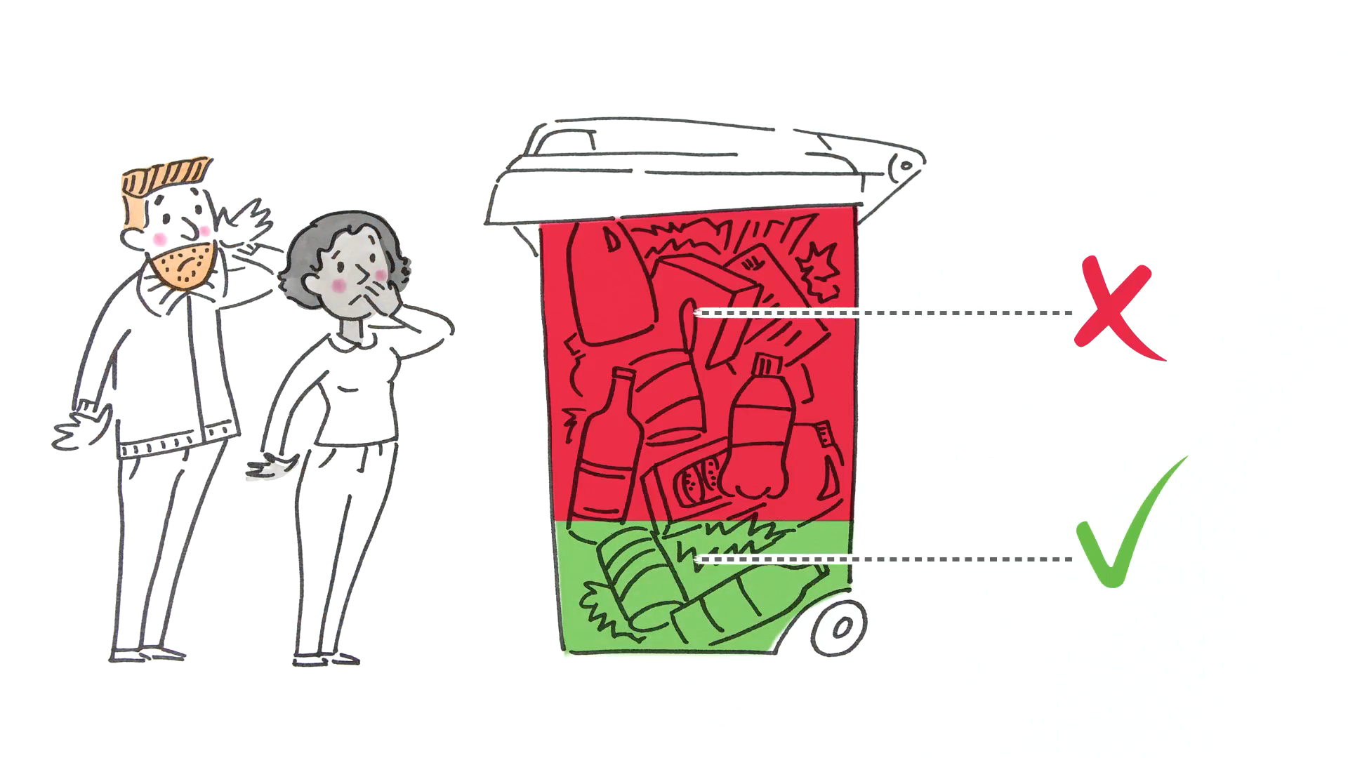 On average  more than half  of your recycling bin ends up in landfill.