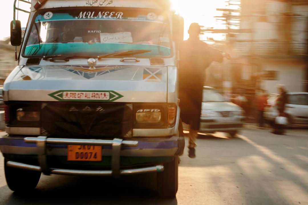 A bus, Srinagar, India