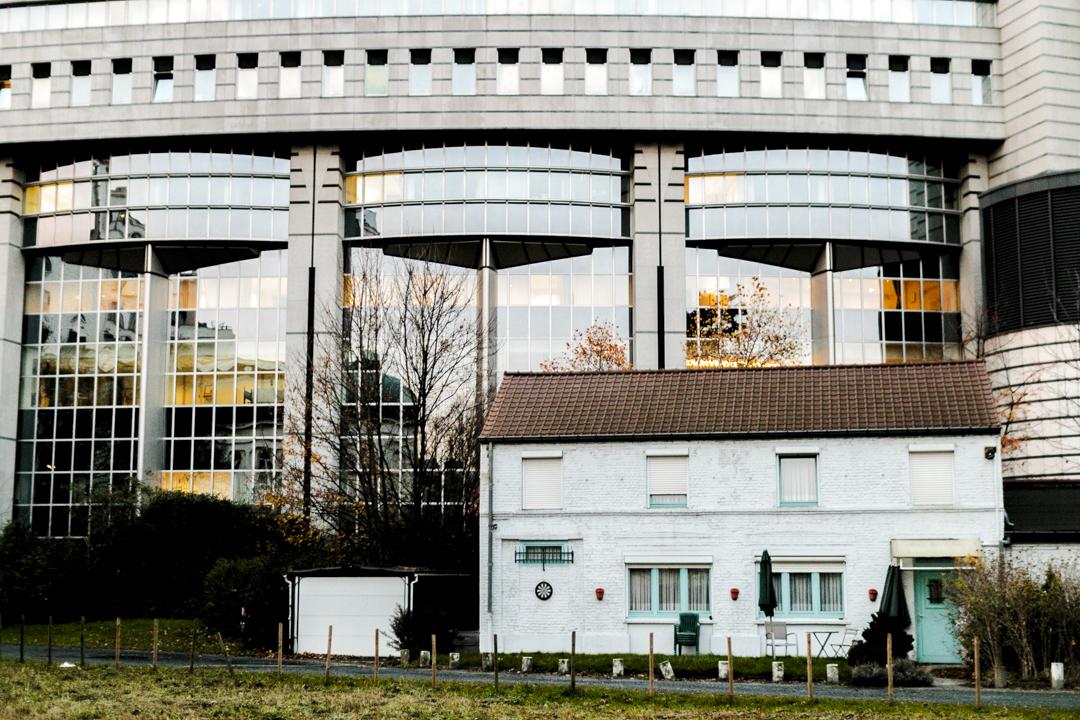 Behind the European Parliament, Brussels, Belgium