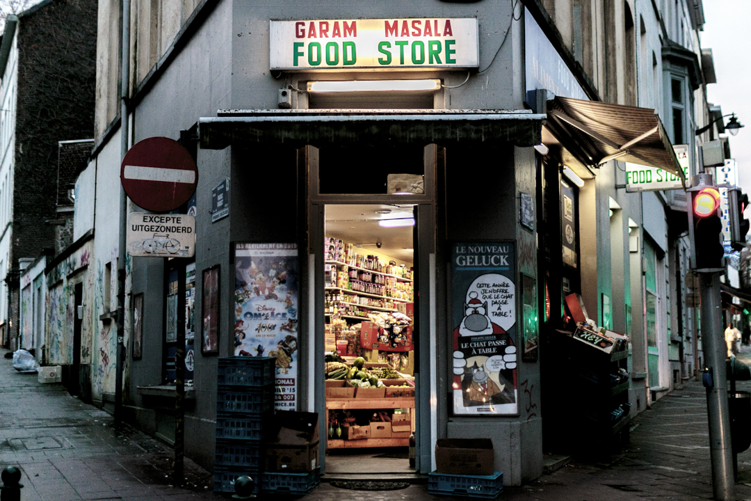 A food store, Brussels, Belgium