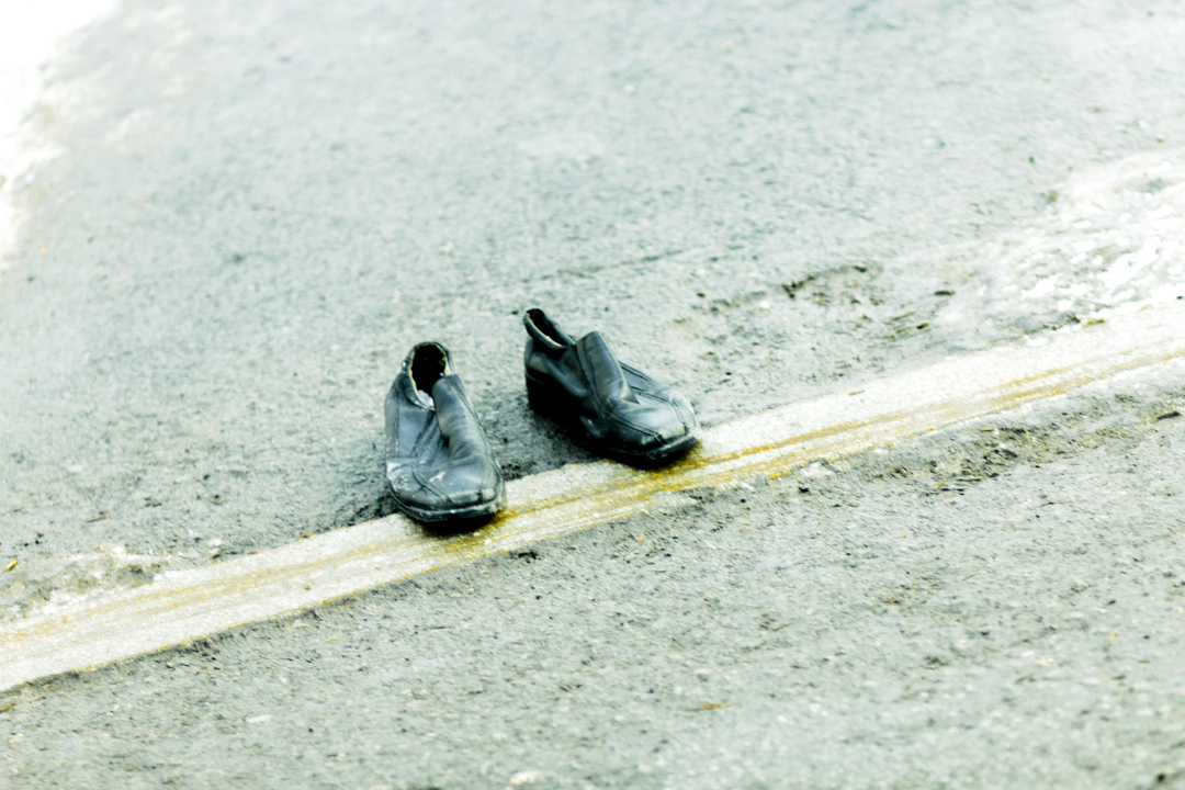 Shoes in the streets, Russia