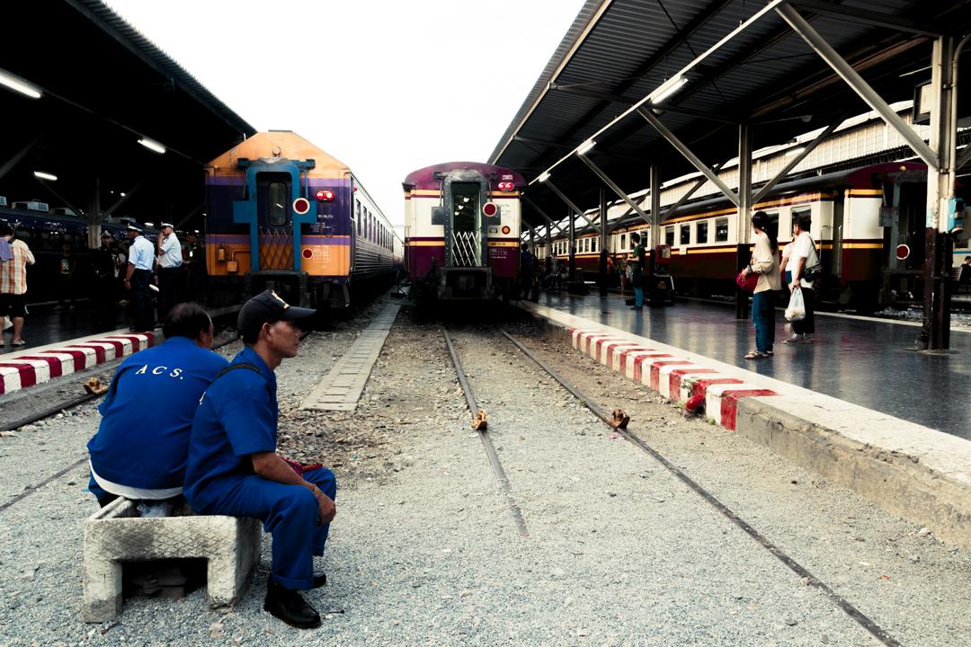 Two men take a break, Bangkok, Thailand