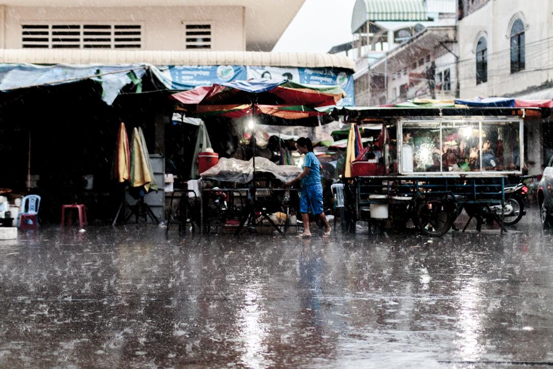 The rain, Kratie, Cambodia