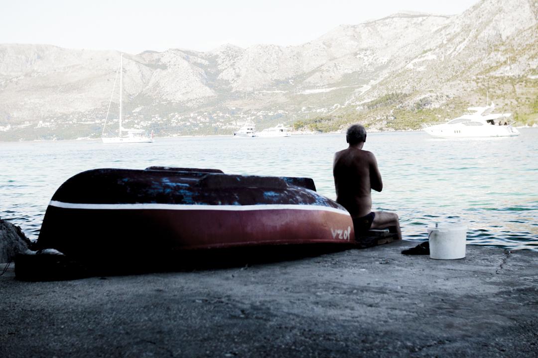 A man looks at the sea, Croatia