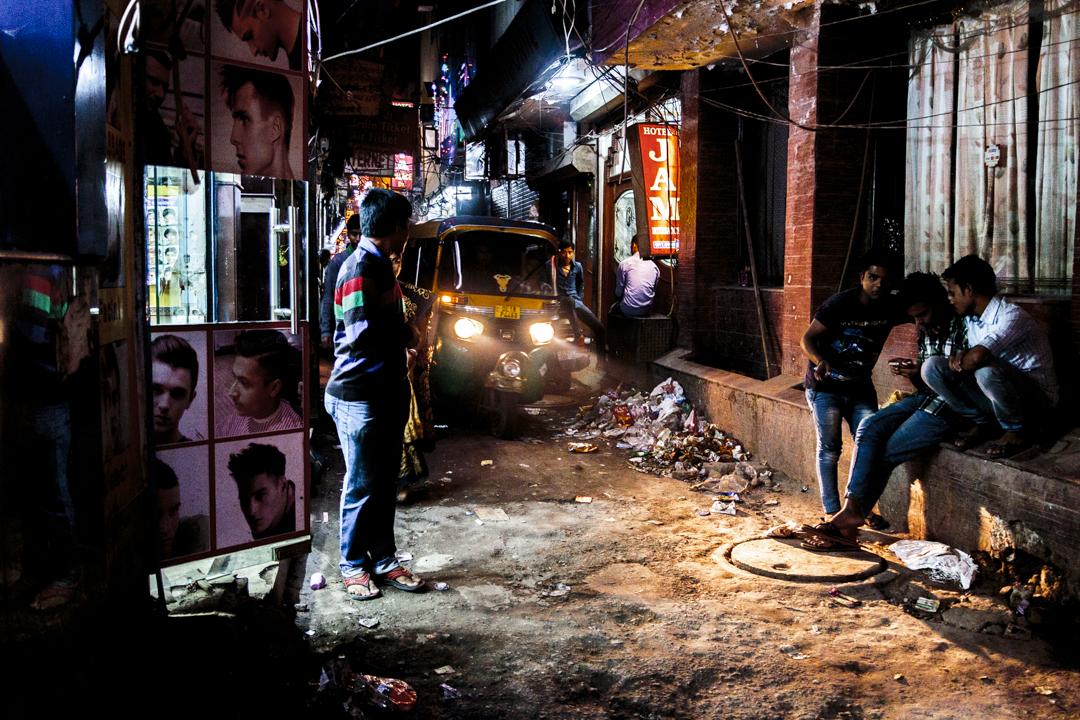 A street of Paharganj, New Delhi, India