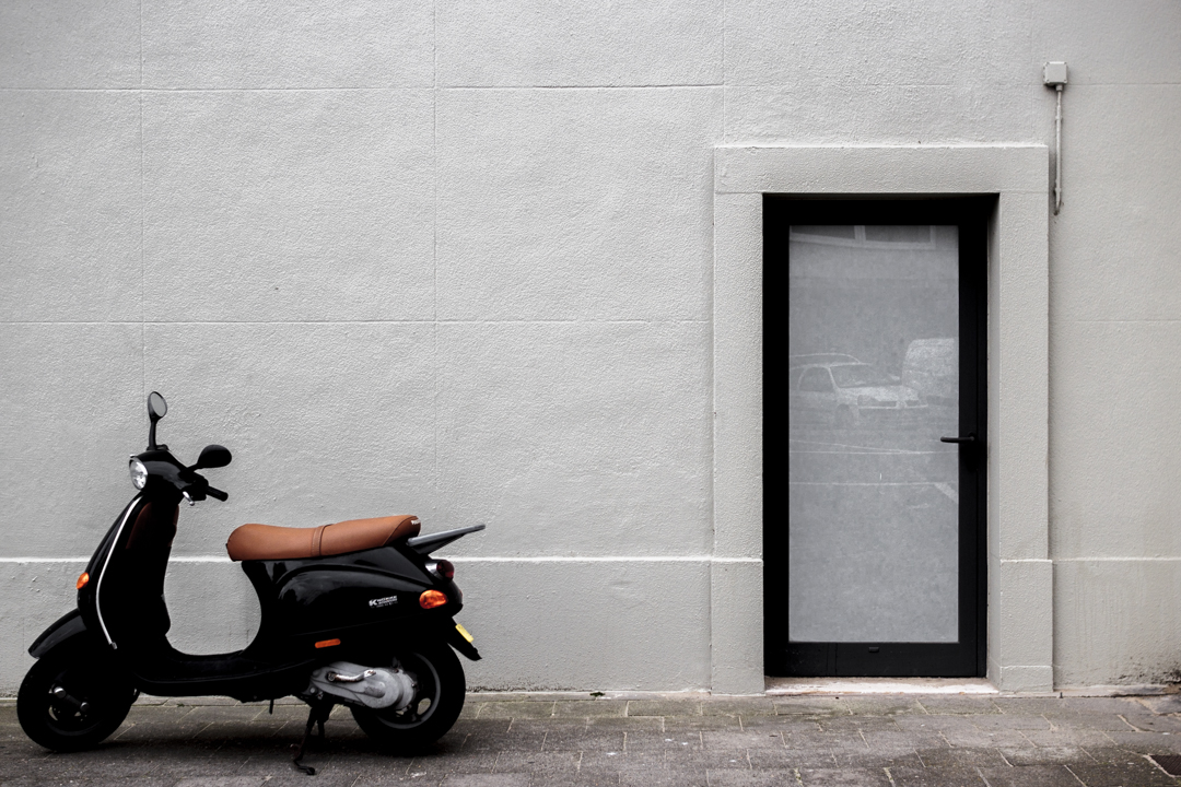 A motorbike, Knokke, Belgium