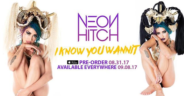 """Pre Order Avail Tomorrow! Check out this new song I had the pleasure of being a part of! """"I Know You Wannit"""" Prod by @tsparksproducer #neonhitch #neonhitchmusic #blastmanagement"""