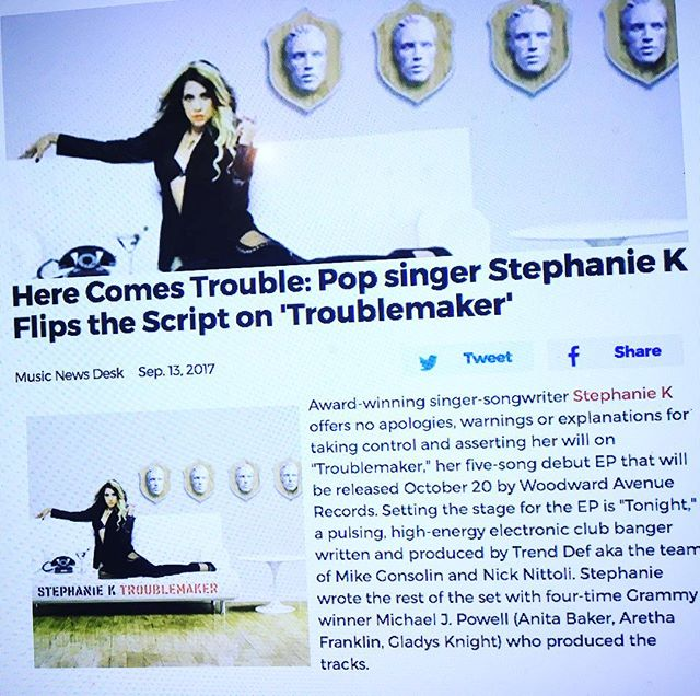 S/O to @officialbroadwayworld for mentioning me in this new article about my latest song with @stephaniekmusic along with my company @trenddefstudios ! Go pick up this EP on Oct. 20th Released By @woodwardavenuerecords #tonight #newmusic #stephaniek #TrendDef #trenddefstudios #cowriting #iwritesongs #october20 #broadwayworld #article