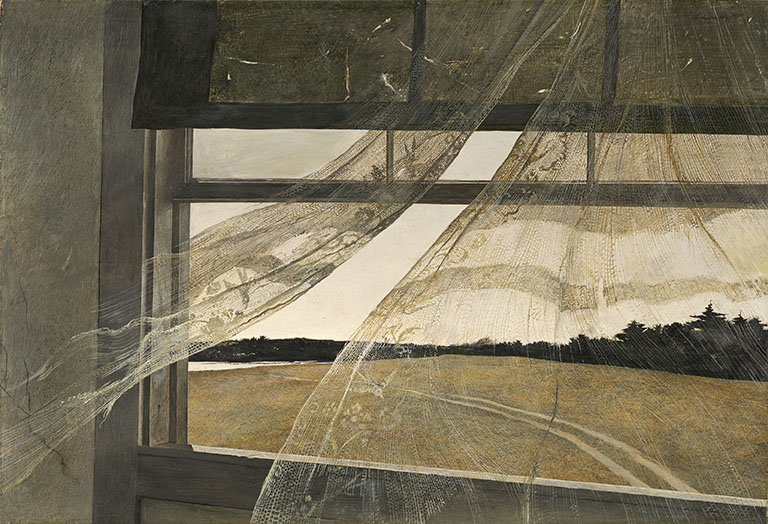 Image Credit & Source here : Wind from the Sea, 1947, By Andrew Wyeth