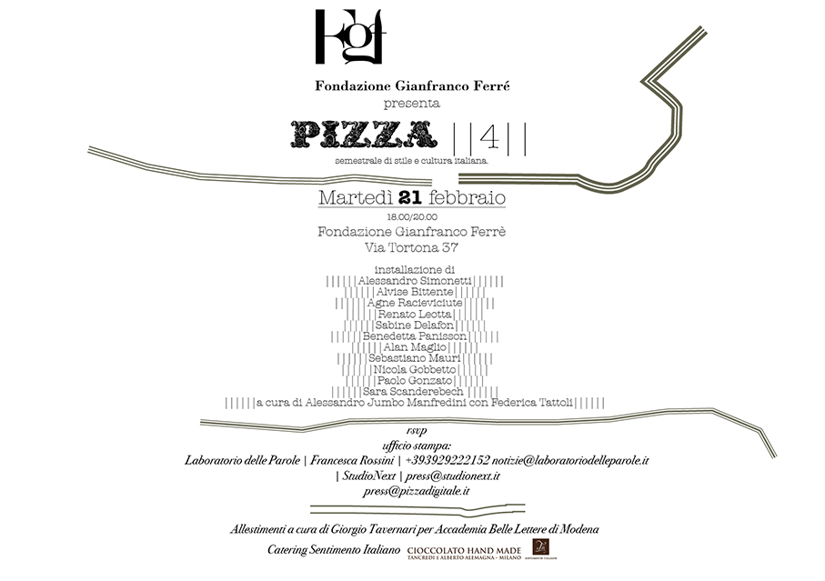 Fondazione Gianfranco Ferré in collaboration with Pizza | curated by Alessandro Jumbo Manfredini and Federica Tattoli | Milan | 2012 | Committed photographic project | Images and interview below.