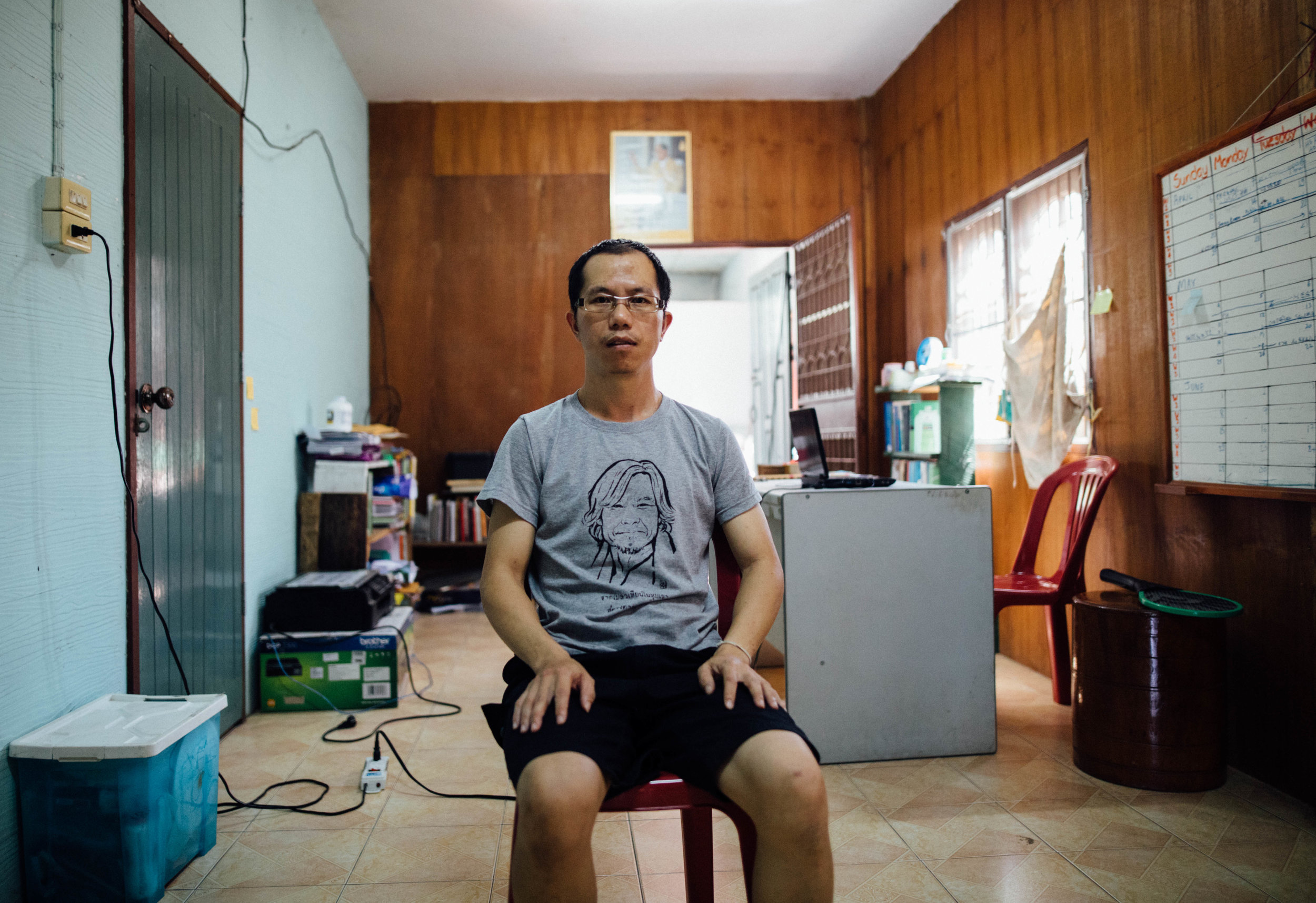 Laofang in his office.