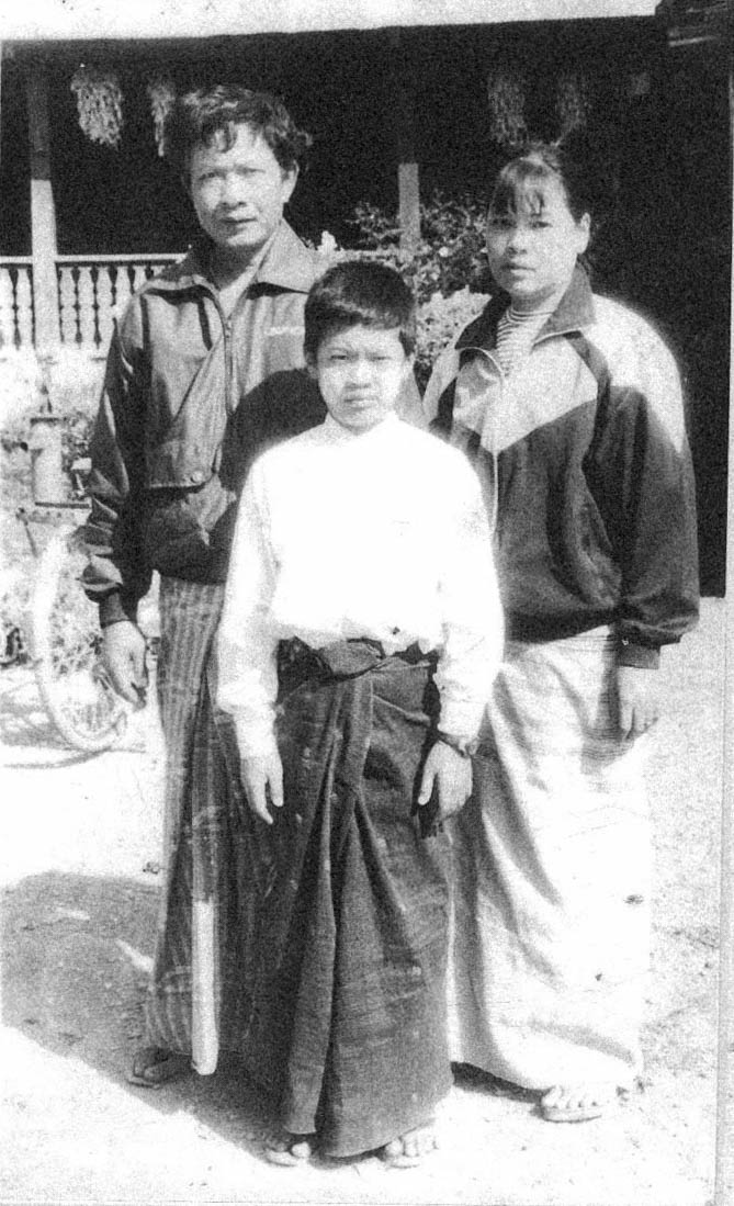 Ice and his parents in Mong Pan.