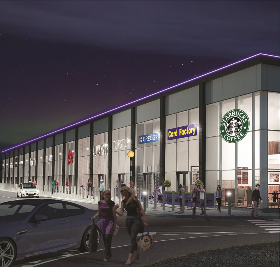Plans for a new retail terrace at Straiton Retail Park CGI 2.JPG