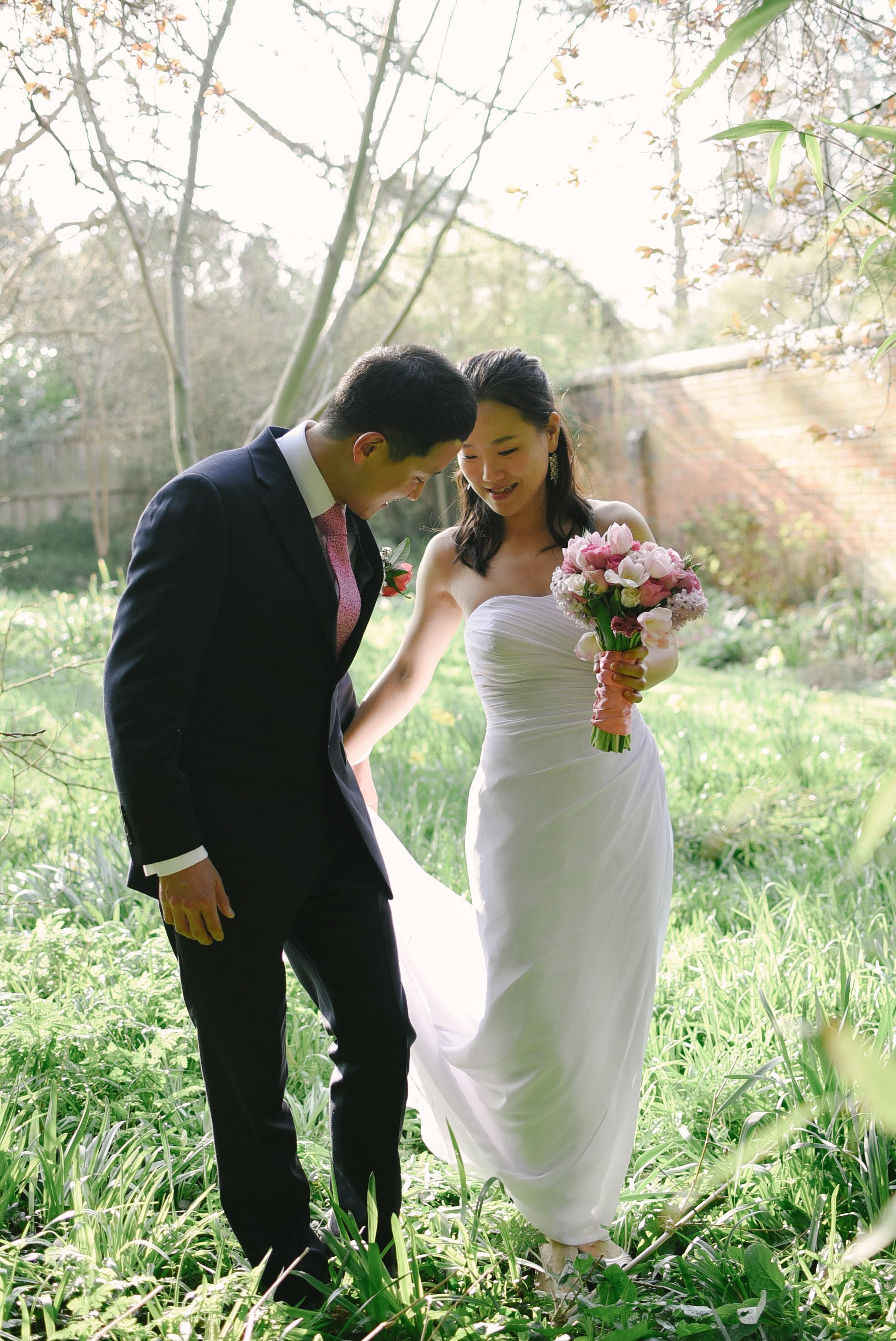 peach tea wedding photography