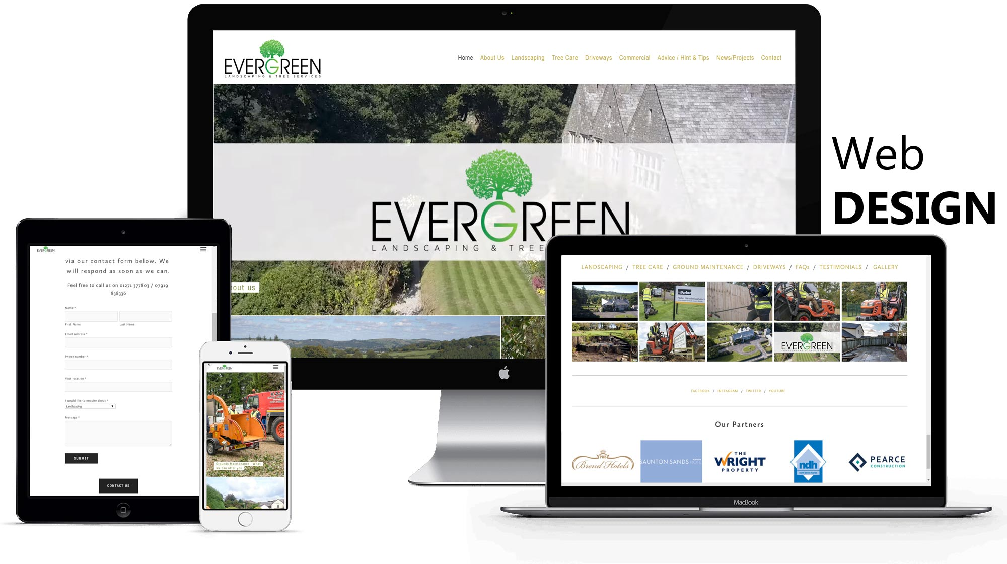 EVERGREEN - Package:- website / promotional films / timelpase filmsPhotography / social media & SEOview website →