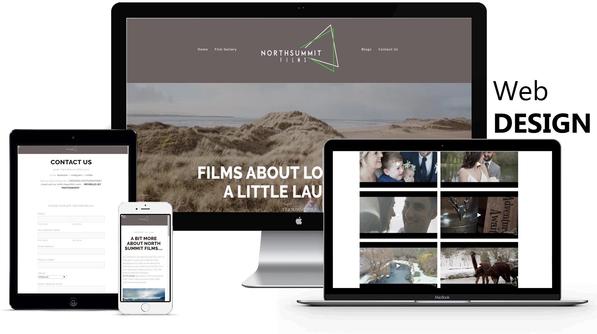 NORTH SUMMIT FILMS - Package:- websitesocial media & SEOview website →