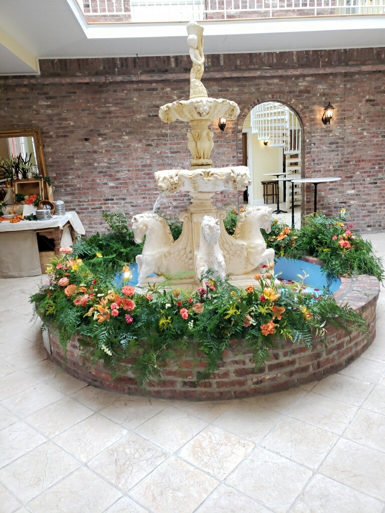 Flowers in the fountain