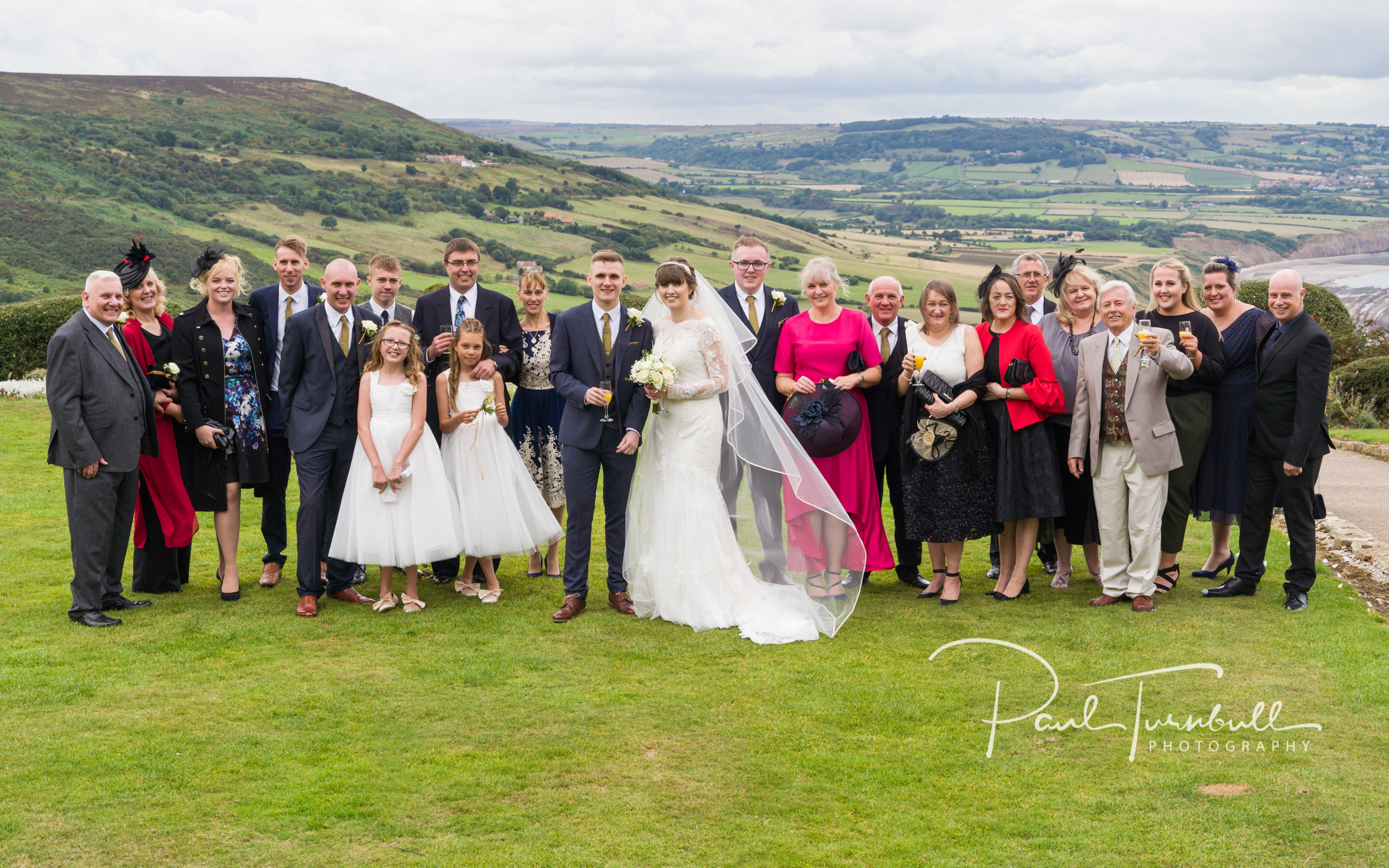 Wedding Party at Raven Hall, Ravenscar