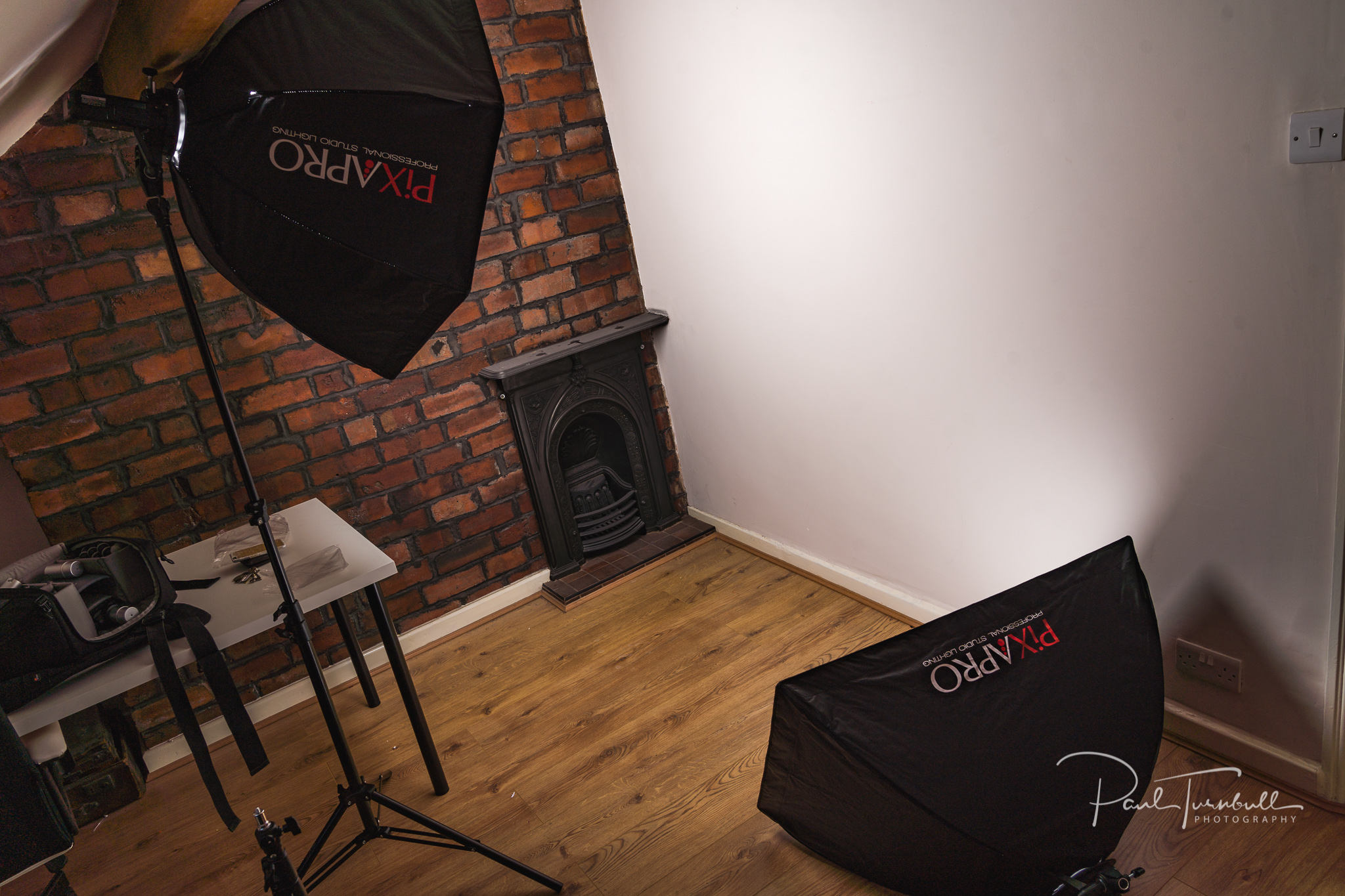 I bring the studio to you with professional quality portable studio lighting
