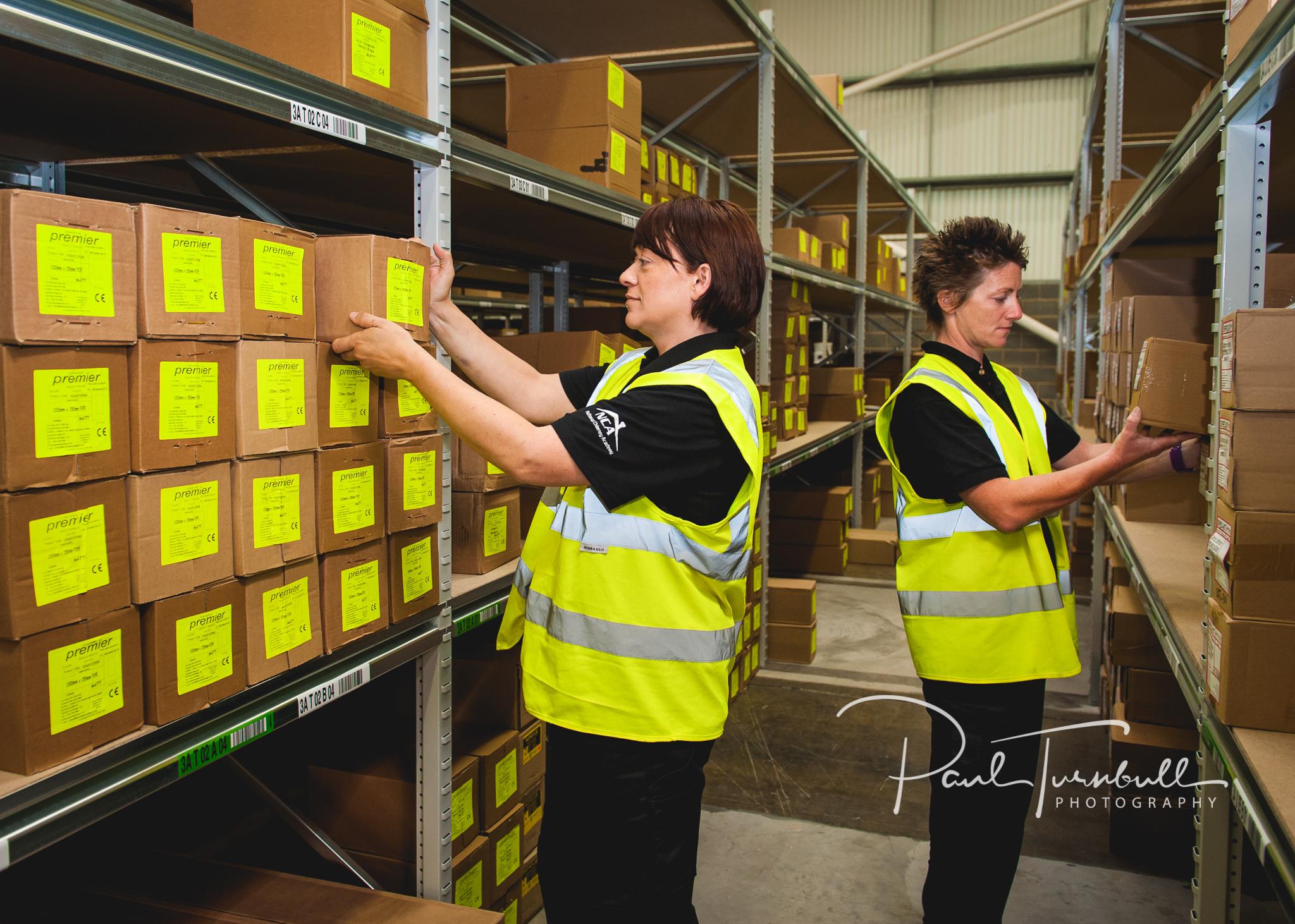 Warehouse operatives at SpecFlue