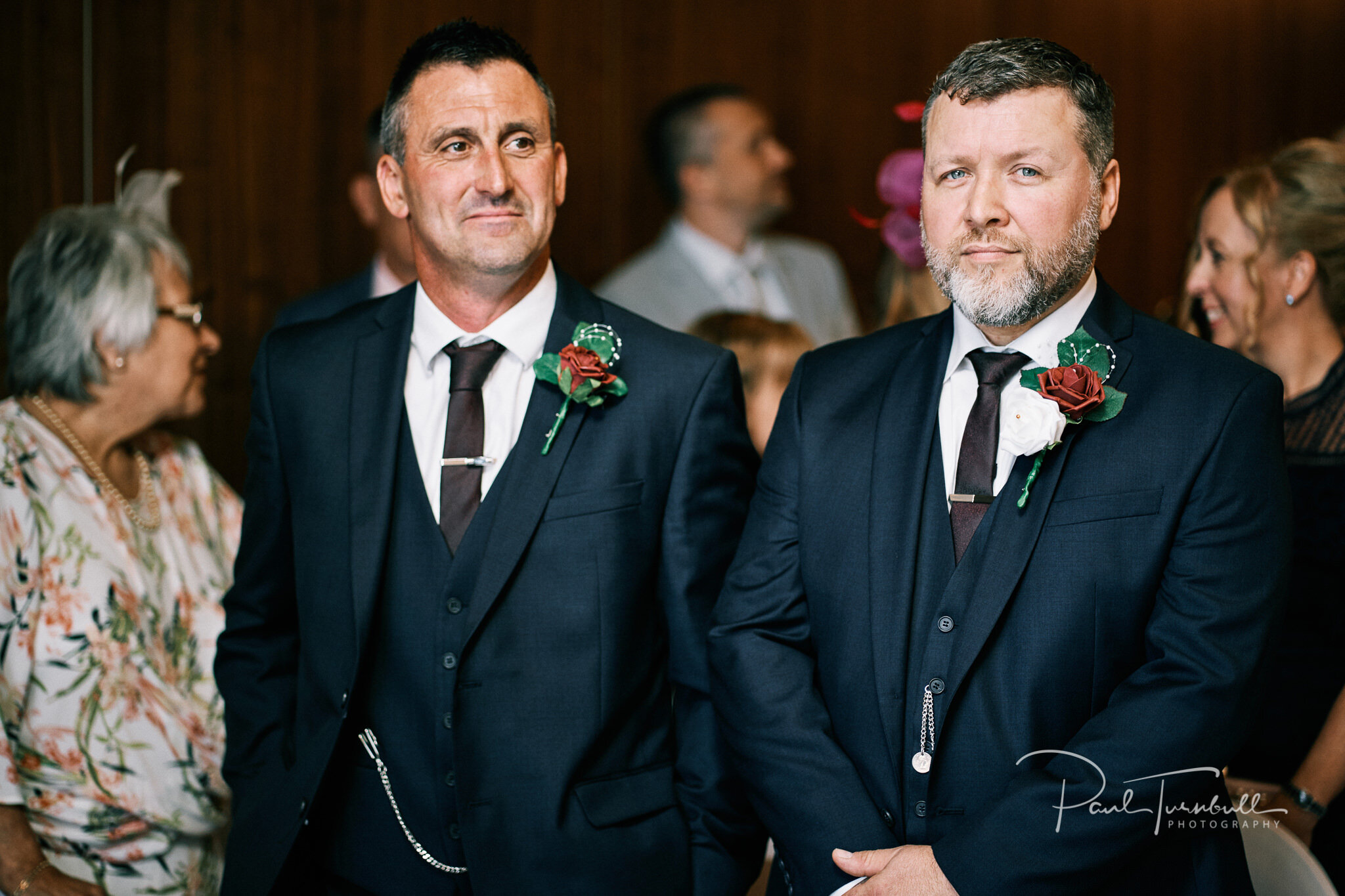 The groom and best man. Wedding photographer Hull