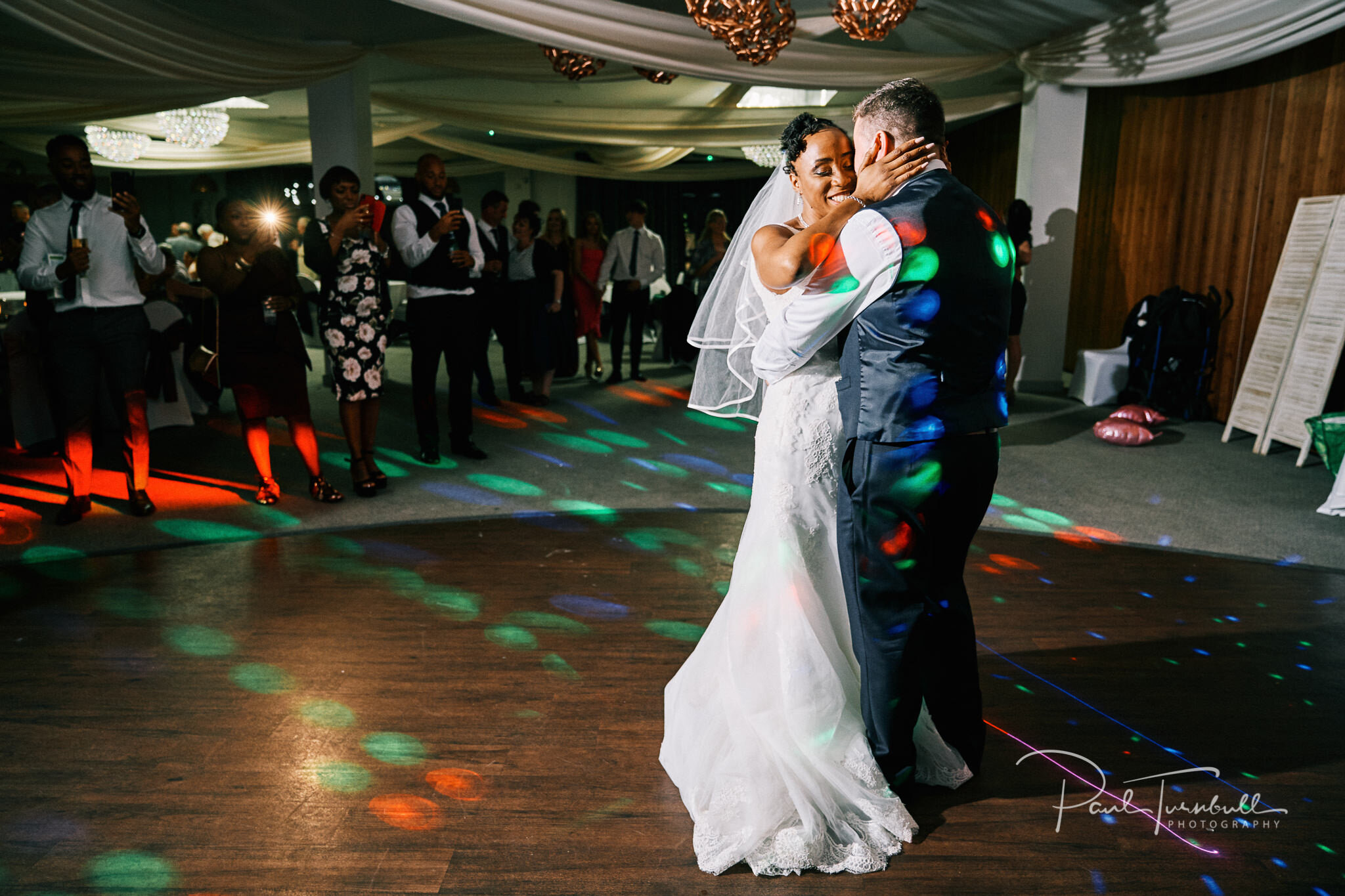 Bride and groom enjoying the first dance at Lazaat Hotel. Bride and groom enjoying the gardens of Lazaat Hotel. Wedding photographer Hull