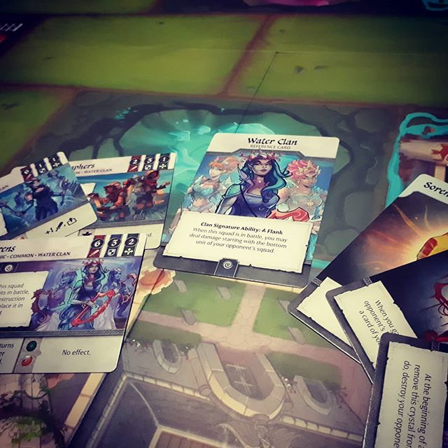 Crystal clans, great 2 player game with stunning artwork. Bad side -artwork doesn't get enough real estate  #brnau #bgg #boardgame #geek #Geekmedia