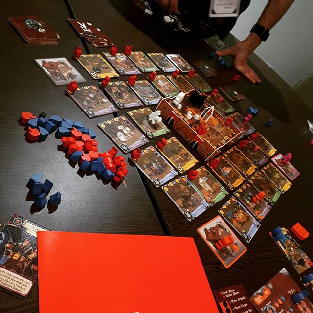 The Brigade in action. Great meeples.  #brnau #bgg #boardgame #geek #Geekmedia