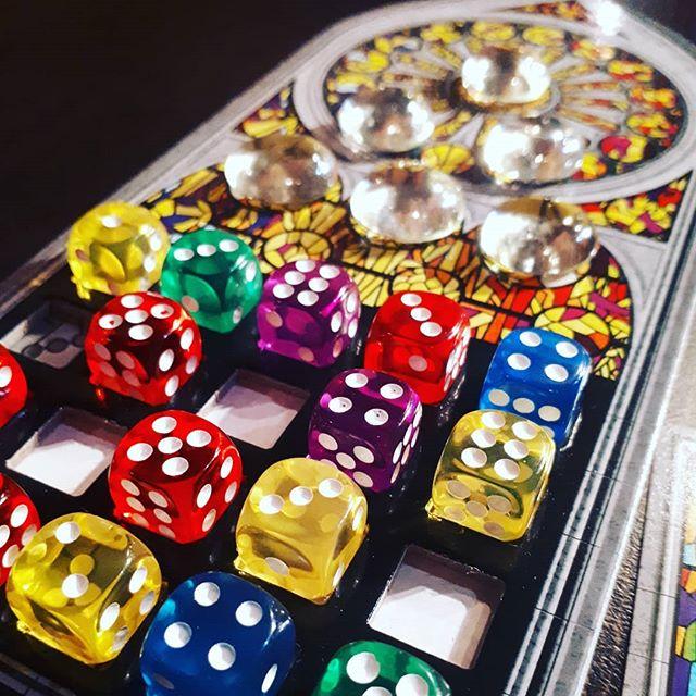 Game 7 at #shepparcon #sagrada  #boardgame #games #bgg #brn #fun #andrews #adamescu #stainedglass