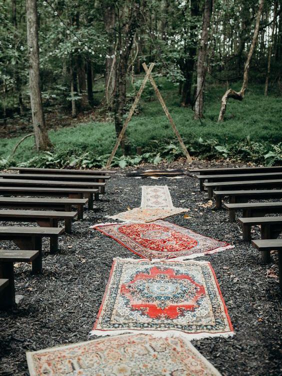 mariage-boheme-gypsy-ecolo-tapis