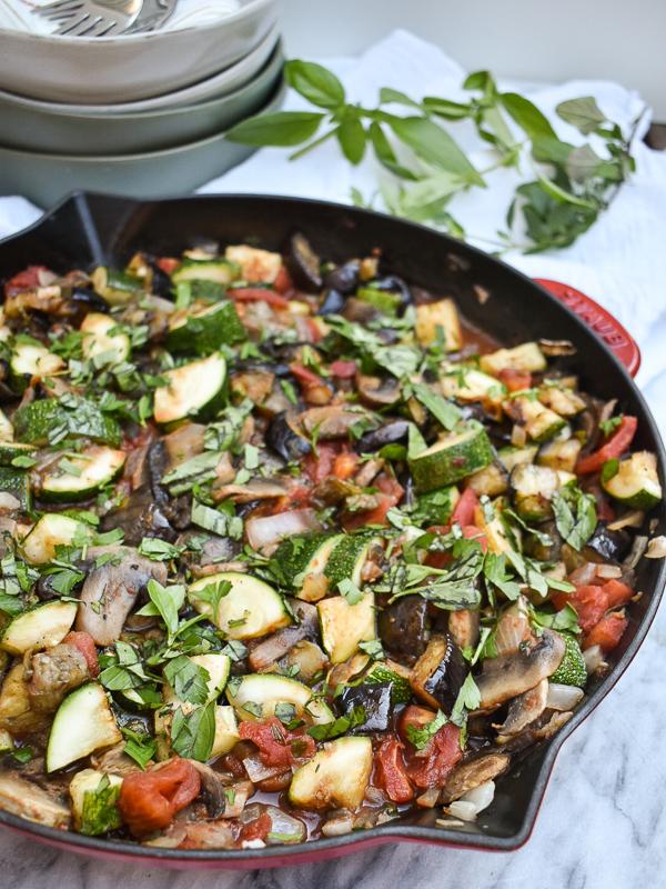 Eggplant and Zucchini Ratatouille