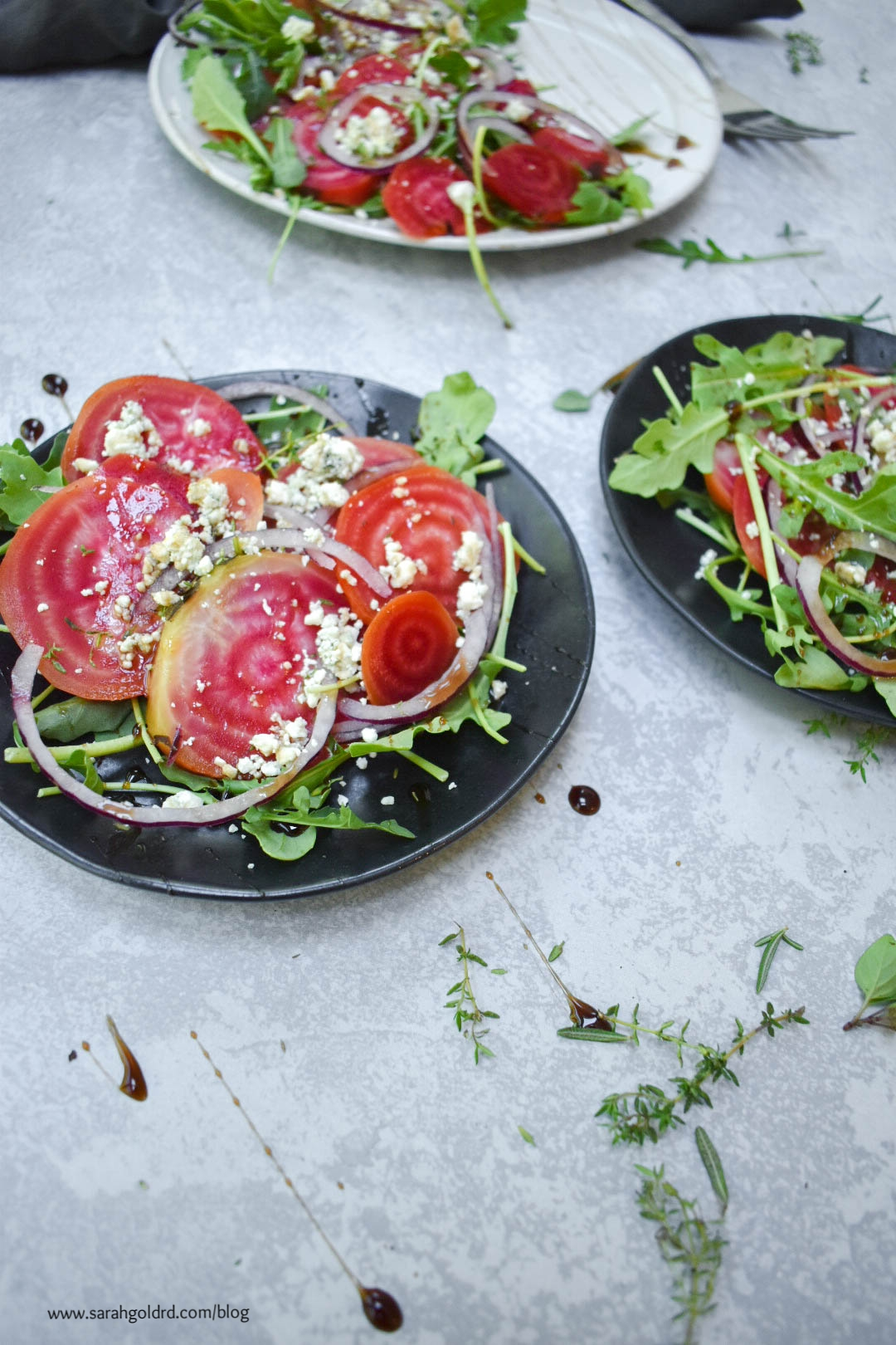 chioggia beet salad with arugula and gorgonzola.jpg
