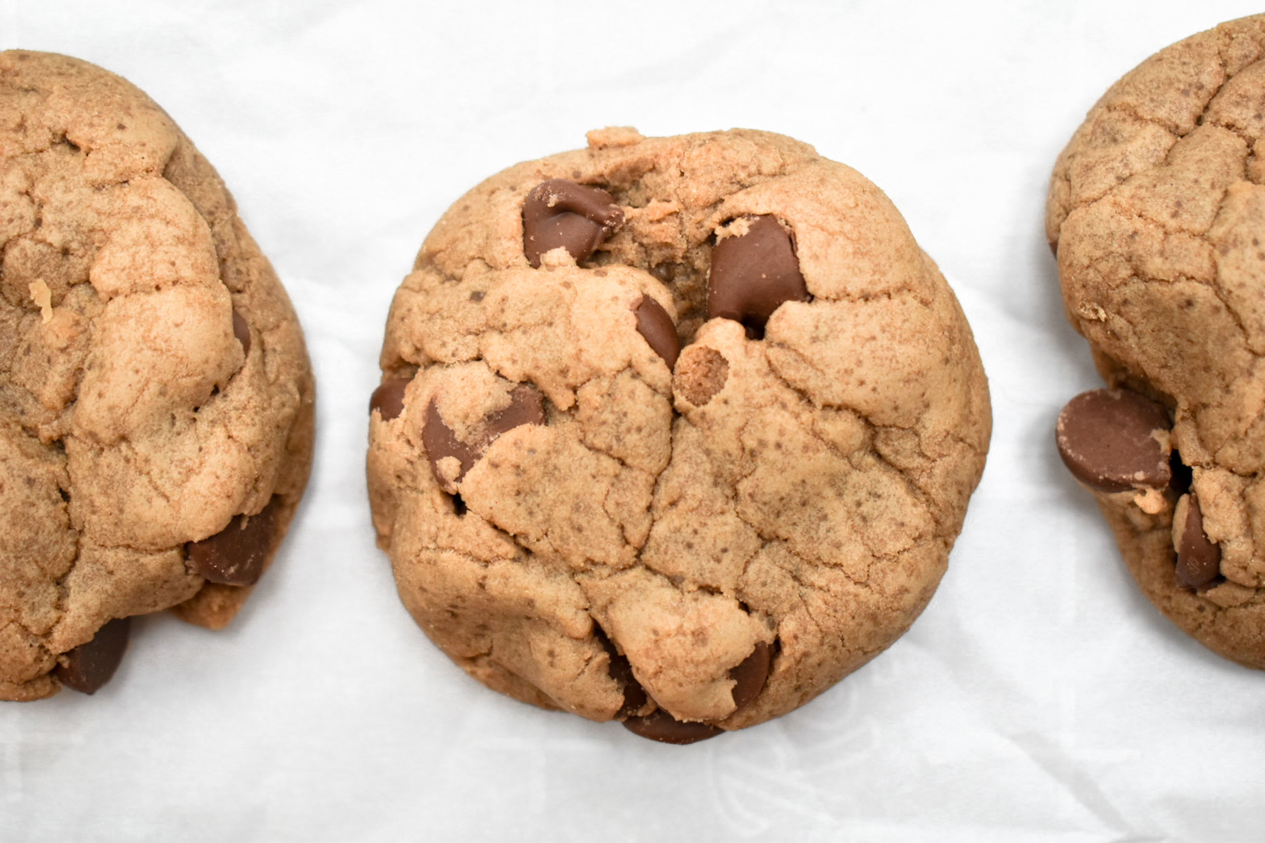 the softest double chocolate chip cookies