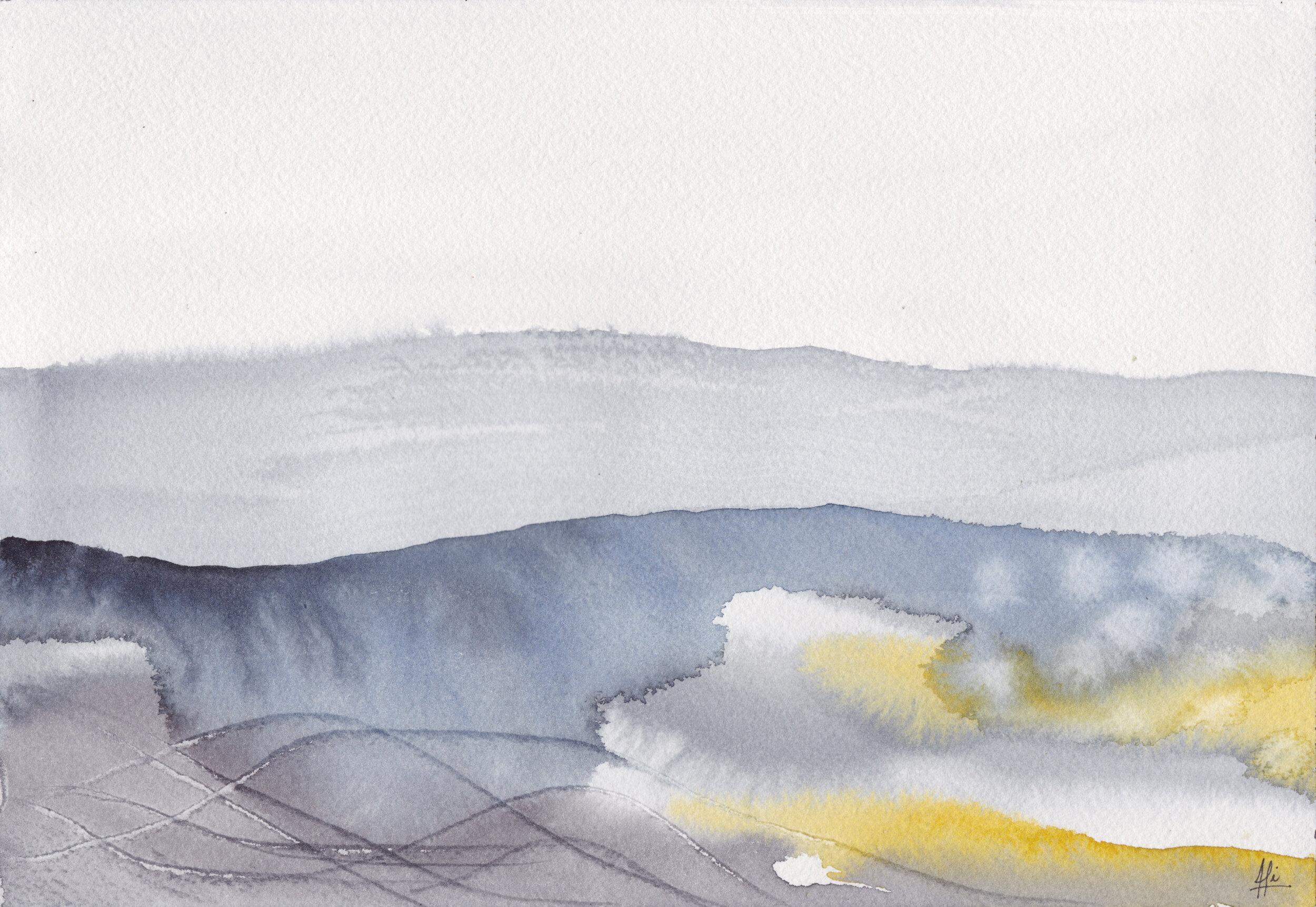 """""""Océano 1""""  Tamaño Lámina: 18 x 26 cms. Valor: $90.000  DISPONIBLE"""
