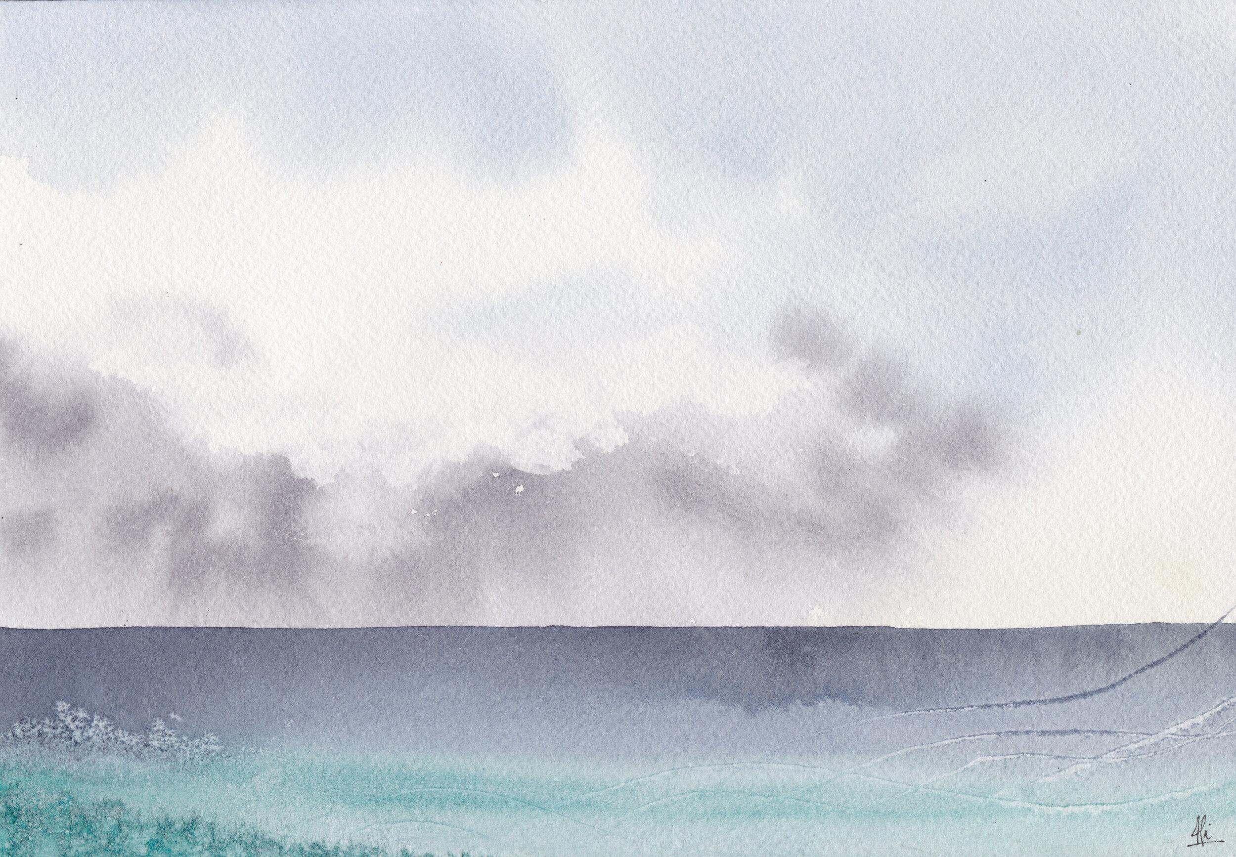 """""""Océano 2""""  Tamaño Lámina: 18 x 26 cms. Valor: $90.000  DISPONIBLE"""