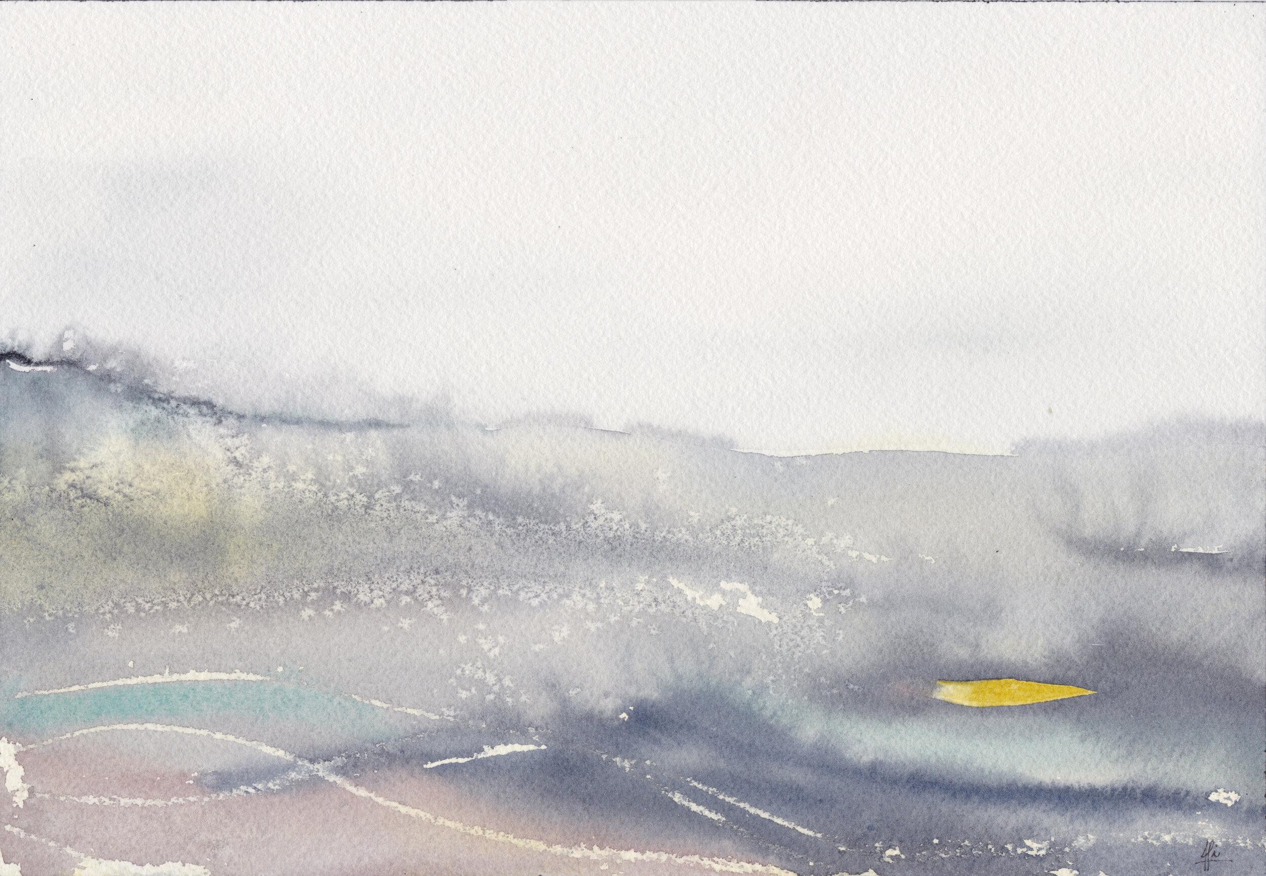 """""""Océano 3""""  Tamaño Lámina: 18 x 26 cms. Valor: $90.000  DISPONIBLE"""