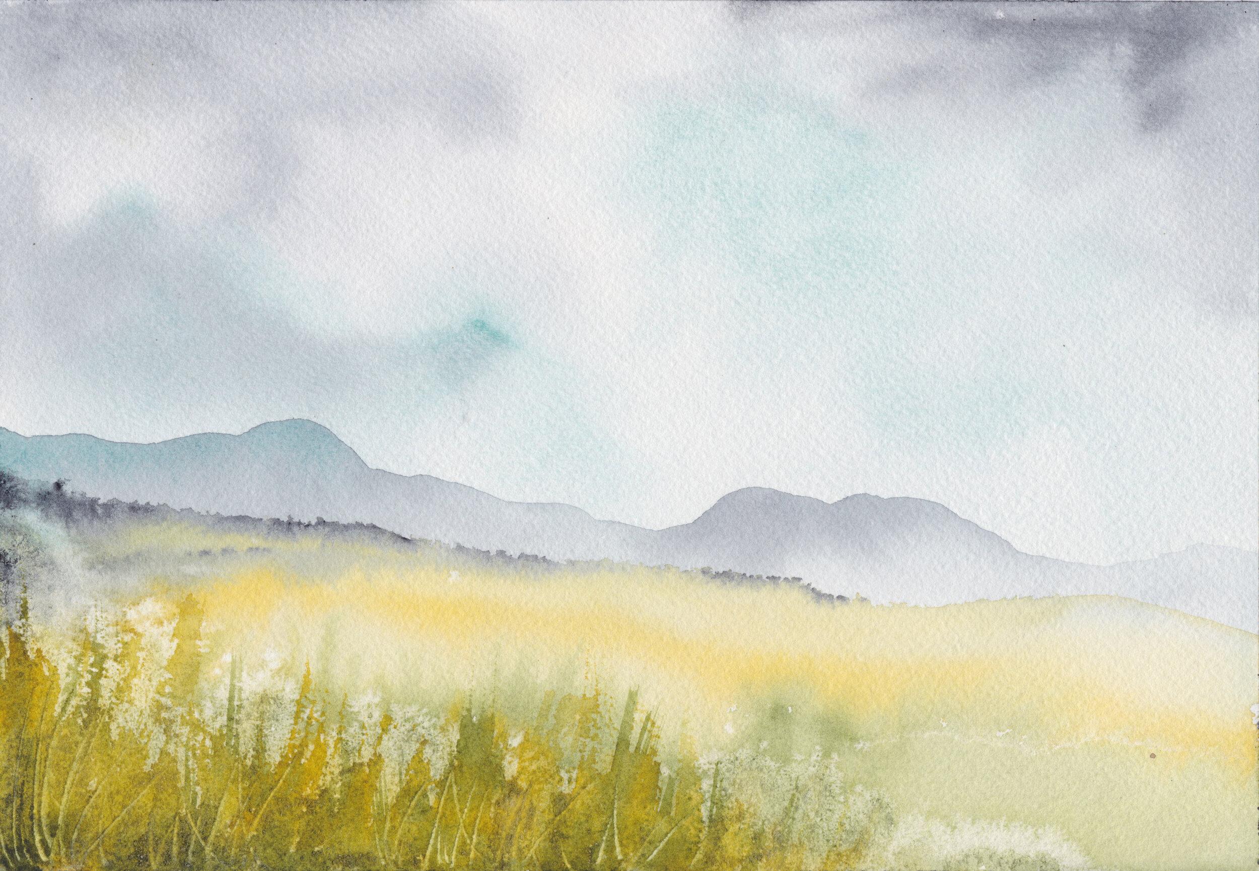 """""""Campos de trigo 1""""  Tamaño Lámina: 18 x 26 cms. Valor: $90.000  DISPONIBLE"""