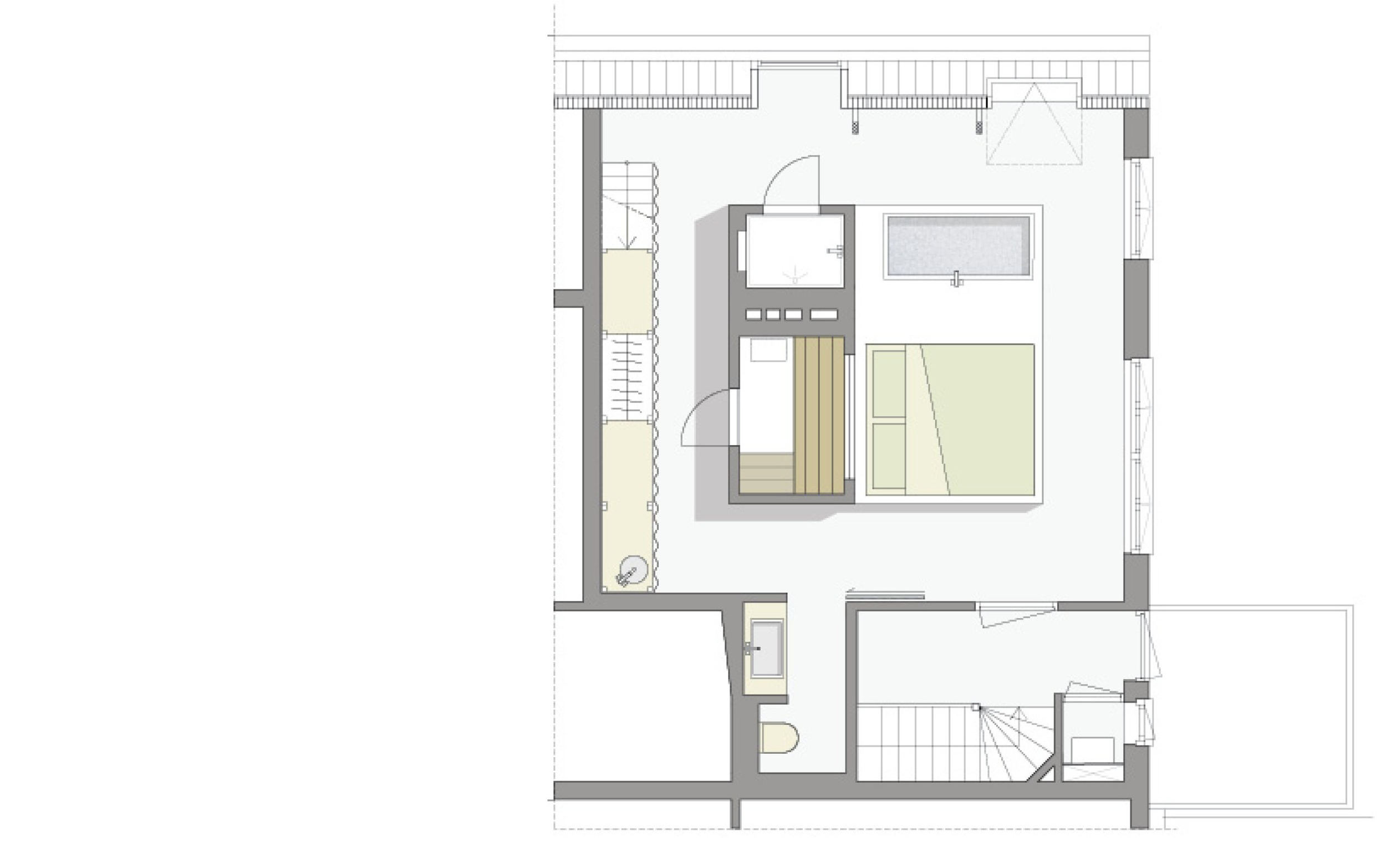 plan of the loft bedroom