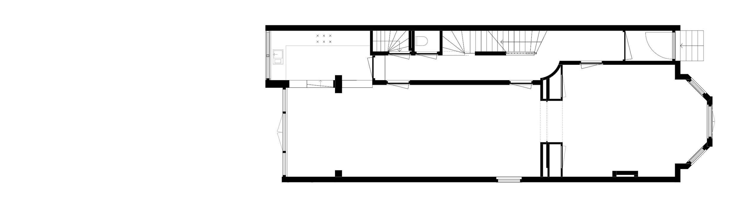 ground floor plan - situation prior to intervention