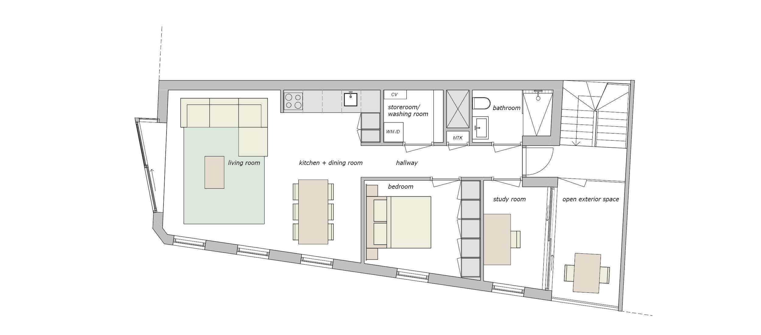 first, second and third floorplan