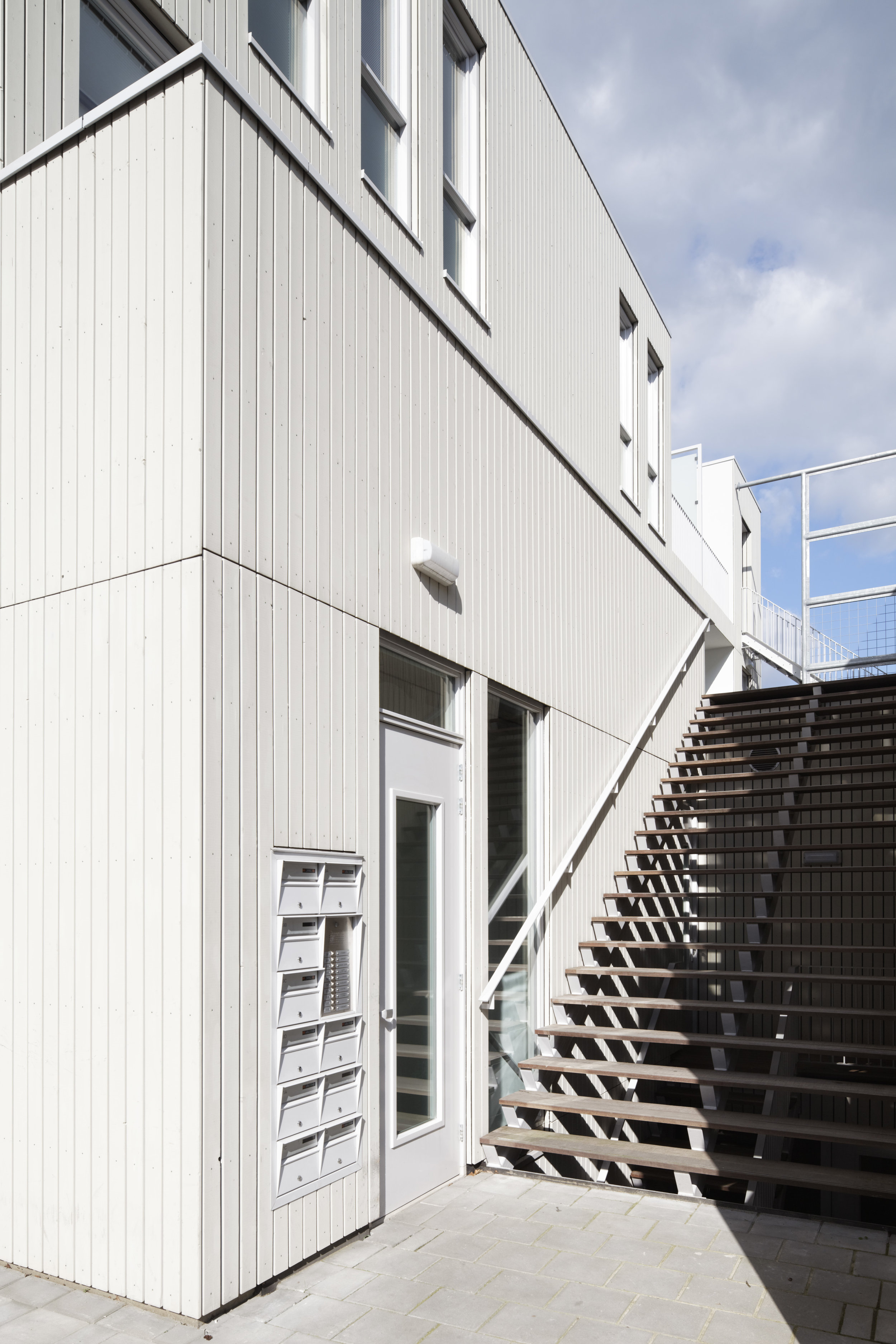 detail of area with communal stairs and acces to parking garage