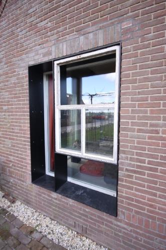 combination of original and new steel windows
