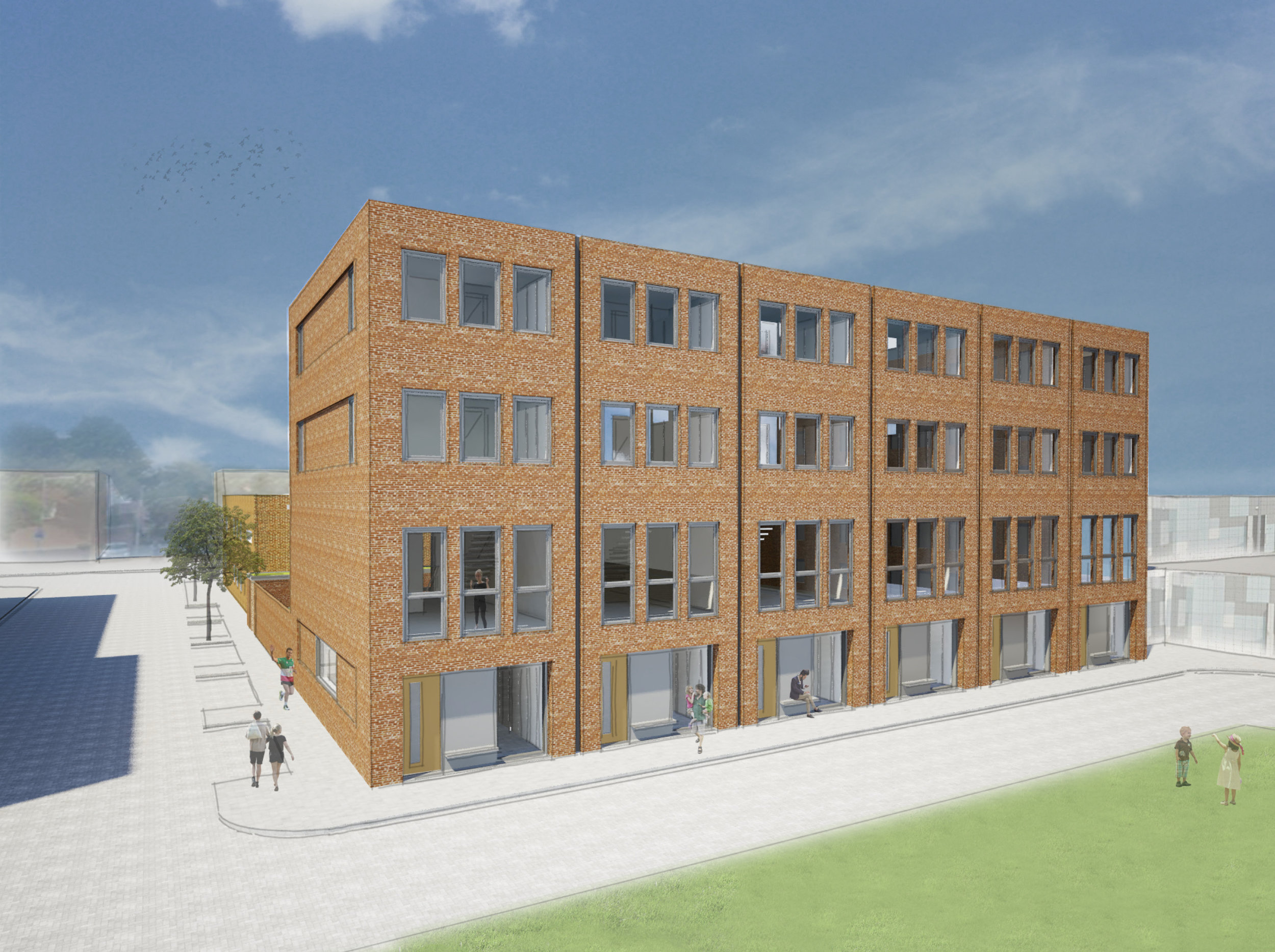 six contemporary city homes   proposal for densification in one of Rotterdam's up and coming neighborhoods