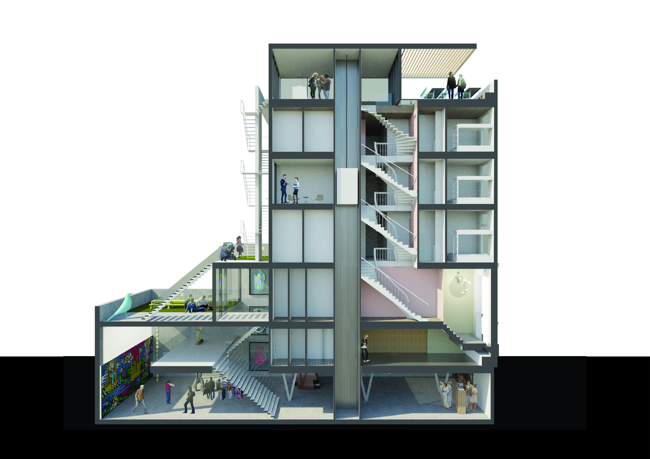 transforming a building with offices and student housing into Rotterdam's place to be!