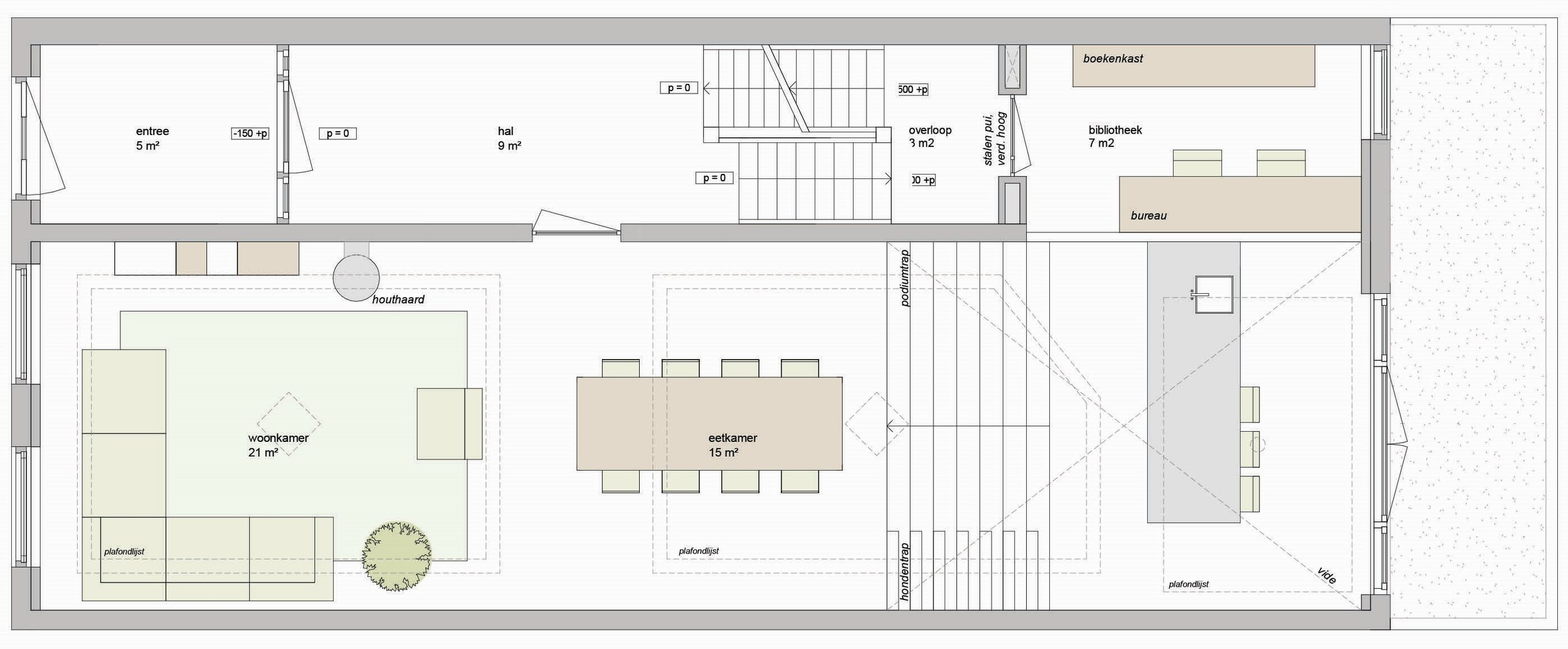 ground floor plan with mezzanine