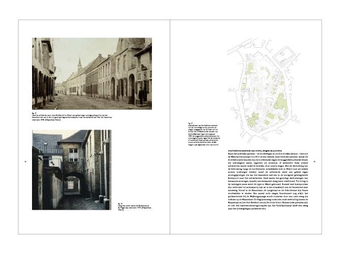 fragment uit het    rapport    - een fijnmazig netwerk van poorten en stegen kenmerkt het middeleeuwse Weert